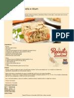 Receitas Saudaveis Torta Rápida de Aveia e Atum