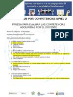 Evaluación Por Competencias Del Nivel 2 JAIME NAVAS