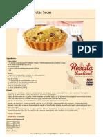 Receitas Saudaveis Torta de Maçã e Frutas Secas