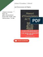Manuel d Exorcismes de Maximilien d 95552662