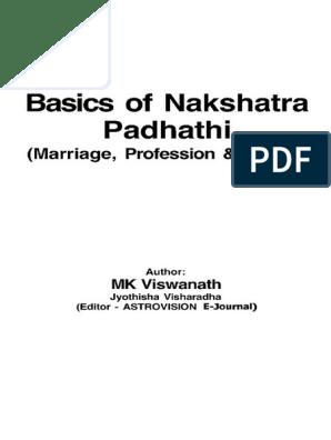 Jyotish_K P _basics of Nakshatra Padhathi_MK Viswanath | Planets In