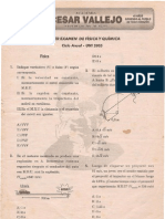 PRIMER EXAMEN DE FÍSICA Y QUÍMICA - Ciclo Anual - UNI 2005 Lima, 8 de abril de 2004