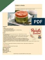 Receitas Saudaveis Minisouflê de Chocolate e Aveia