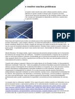 Energ?a solar puede resolver muchos problemas