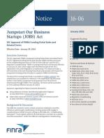 FINRA Portal Rules Regulatory Notice 16 06