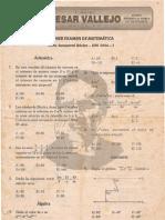 PRIMER EXAMEN DE MATEMÁTICA Ciclo Semestral Básico - UNI 2004 - I Lima, 26 de agosto de 2003