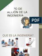 La ingeniería y campo de aplicación