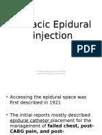 Thoracic Epidural Injection