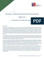 BOLETIN N°1 - Observatorio de Políticas Migratorias