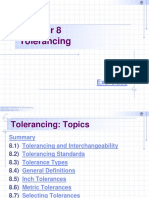 Tolerancing - Chapter 8