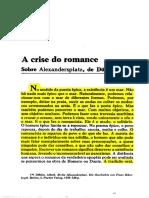 Benjamin a Crise Do Romance