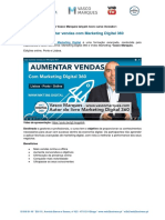 Press Release Curso Aumentar Vendas com Marketing Digital 360