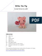 Willie the Pig Pattern