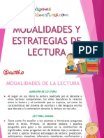 La Lectura en La Escuela Momentos Estrategias y Modalidades IE