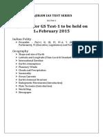 Vajiram GS Test 01 (01-02-2015)
