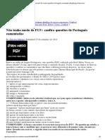 FGV_ Confira Questões de Português Comentadas
