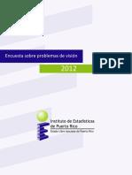 Ecuesta sobre Problemas de Vision de 2012