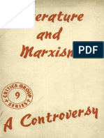Mikhail Lifshitz - Literature and Marxism, A Controversy