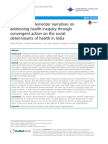 Analysing implementer narratives on addressing health inequity through convergent action on the social determinants of health in India