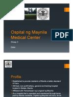 Ospital Ng Maynila Medical Center Organizational Structure