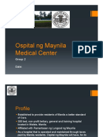 Ospital Ng Maynila Medical Center Organizational Structure