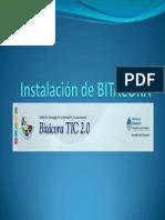 Instalación de BITACORA 2 0