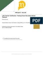 Latin Teacher Certification