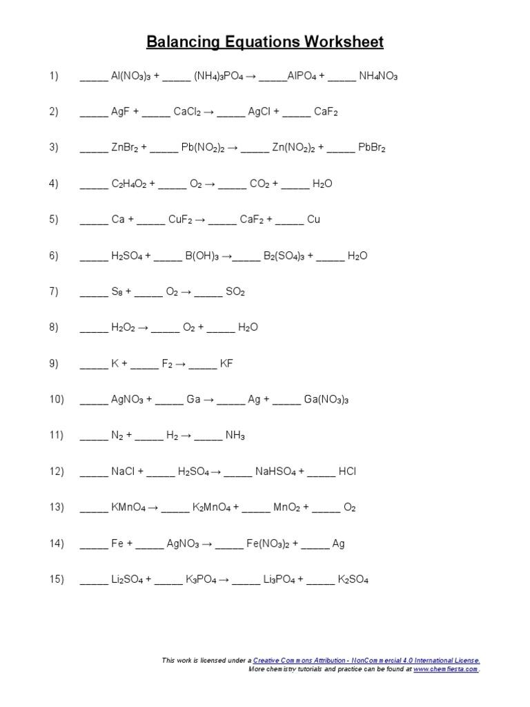 worksheet Balancing Act Worksheet Answer Key all grade worksheets balancing act worksheet answers equations atoms chemical substances