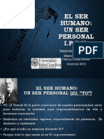 El Ser Humano Un Ser Personal