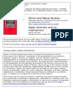 Vertovec_2007_La Super-diversidad y Sus Implicaciones