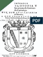 Compendio de La Filosofía de Las Armas 1611