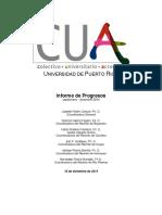 Informe de Progresos CUA-UPR