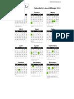 Calendario Laboral Malaga 2016