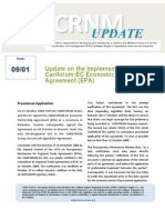 Special RNM Update - Implementation of the Cariforum-EC Economic Partnership Agreement (EPA) - 12 Jan 2009