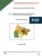 Base Line Study on Livelihood Systems in Eritrea