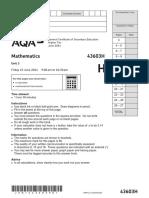 AQA Unit 3 Geometryandalgebra Higher Question JUN14