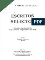 Escritos Selectos - S. Antonio de Padua
