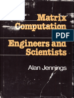 Matrix Computation for Engineers and Scientist by Jennings