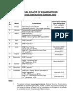 All India Exam Schedule 2010