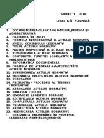 Subiecte 2016 - Legistică Formală