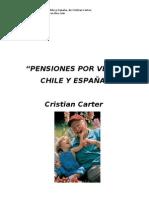 Libro PENSIONES DE VEJEZ, CHILE - ESPAÑA, de Cristian Carter