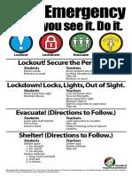 BVSD Emergency Poster