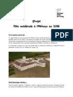 Projet Fête Médiévale Trizay Dossier