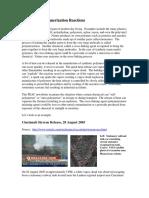 Violent Self-Polymerization Reactions