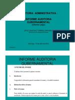 informe auditoria gubernamental