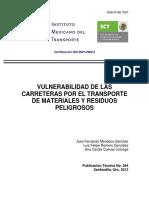 6.1 Vulnerabilidad de Las Carreteras