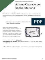 Hipotireoidismo Causado Por Disfunção Pituitária _ Hipotireoidismo