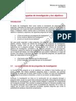 Tema 3 - Las Preguntas de Investigación y Los Objetivos (1)