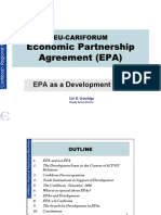 Cariforum-EC EPA Negotiations - The EPA as a Development Tool (Carl Greenidge
