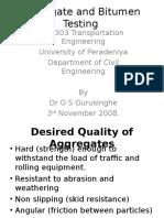 Aggregate and Bitumen Testing
